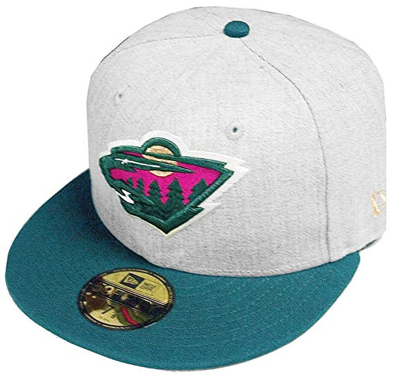 125b081a Amazon.com: New Era Minnesota Wild Heather Cap 59fifty 5950 Fitted Special  Limited Edition: Clothing