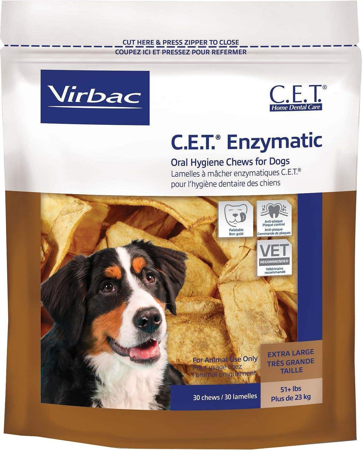 C.E.T. Enzymatic Oral Hygiene Chews for Extra Large Dogs (51+ Pounds) - 90 (chews) by Virbac by virbac