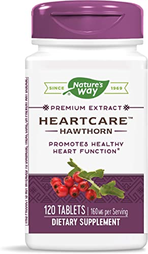 Nature s Way HeartCare Standardized Hawthorn, 160 mg per serving, 120 Tablets