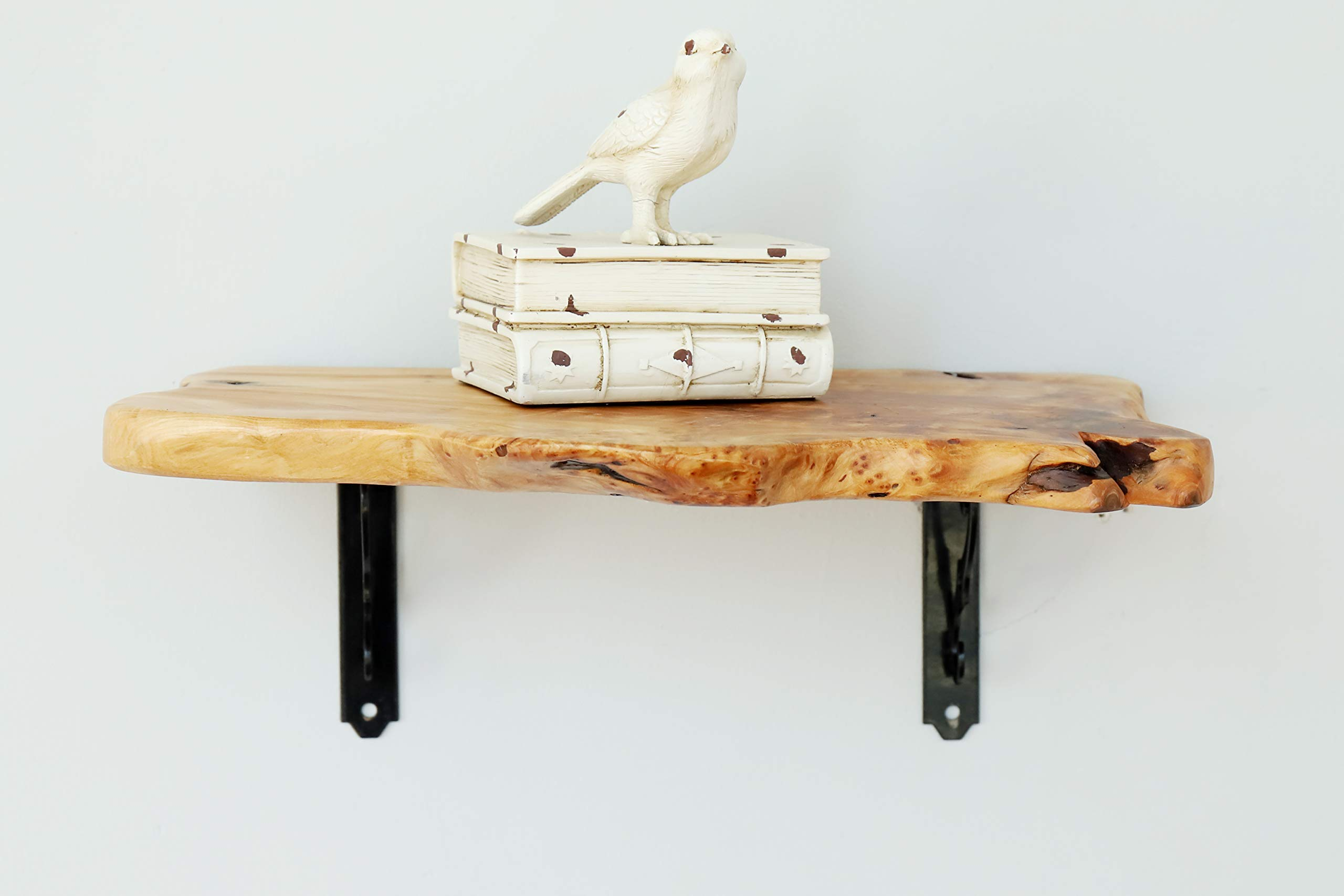 Welland Natural Edge Real Solid Wood Shelf Wall Mounted