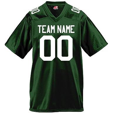 Gameday Mens Fan Wear Custom Football Jersey Adult 2X-Large in Dark Green d9c8c4a25