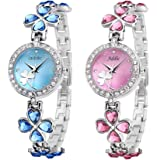 Addic Cool Analogue White Dial Women's Watch (Combo of 2)