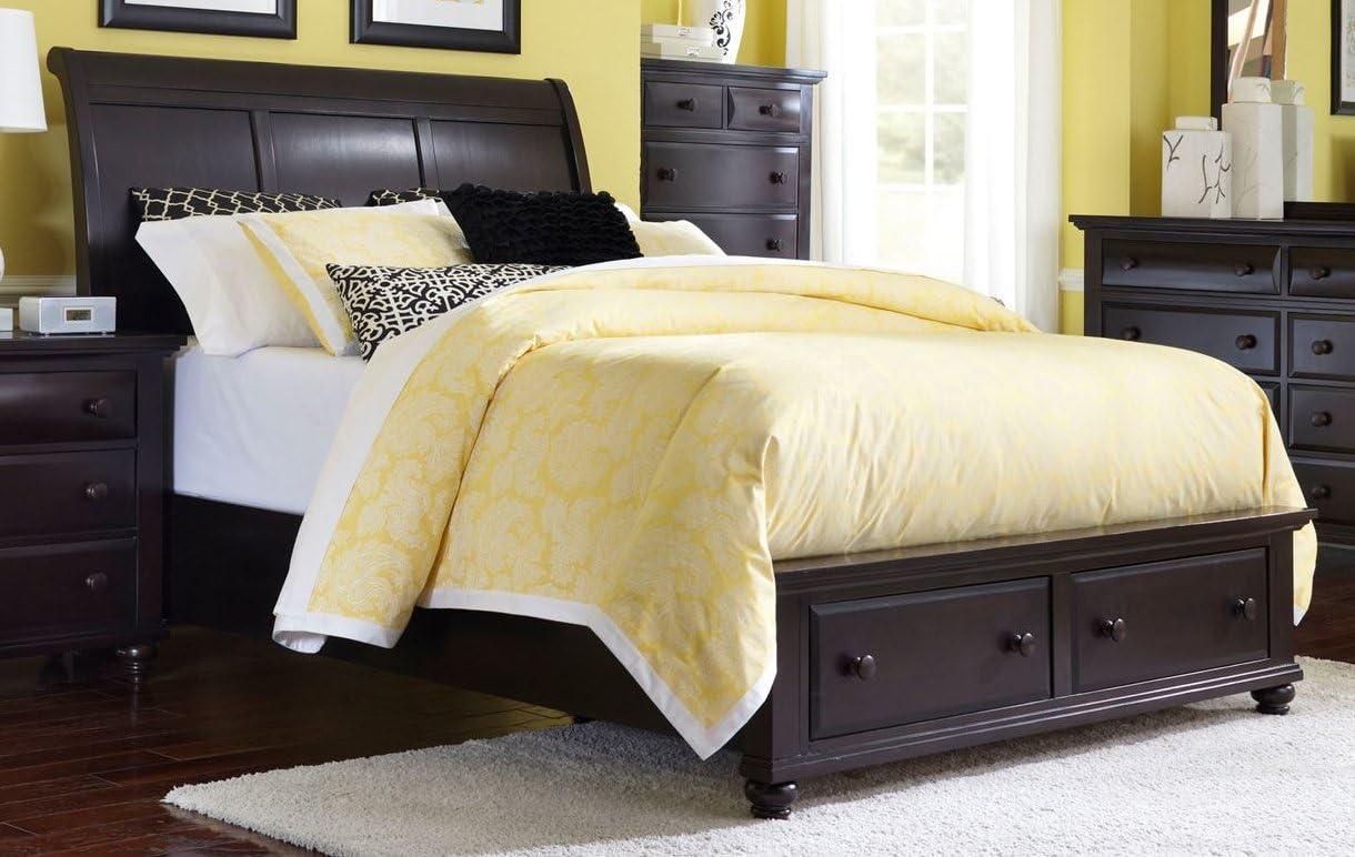- Amazon.com: Broyhill Farnsworth Sleigh Storage Bed, Queen: Kitchen