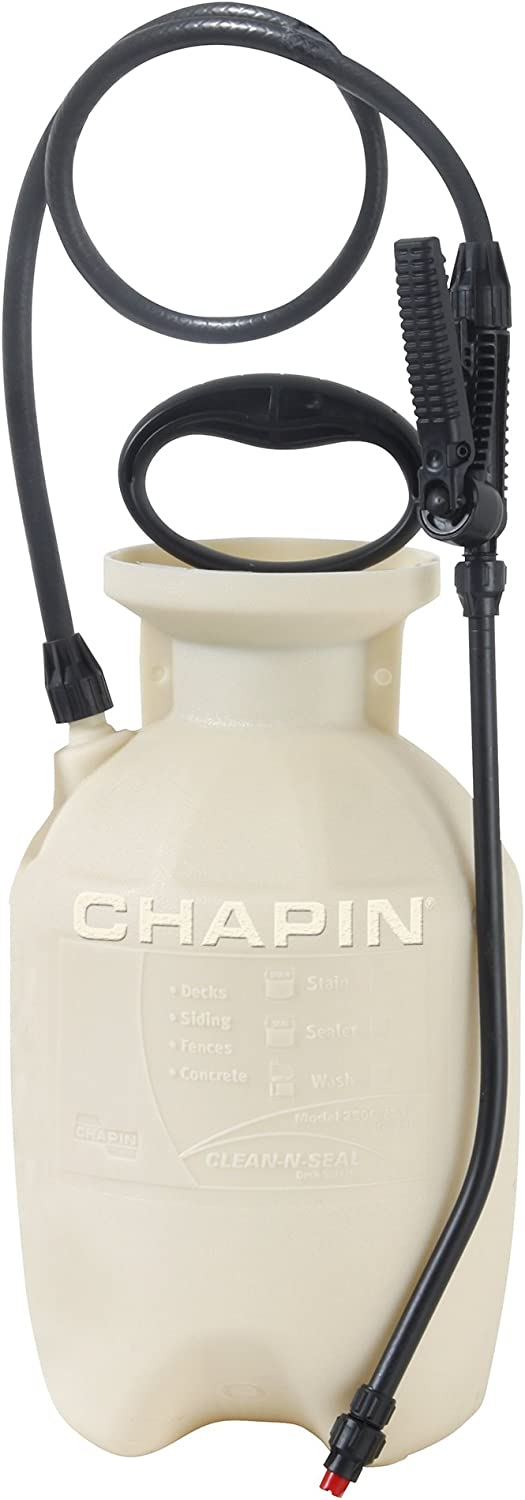 Chapin International 25010 1-Gallon Clean 'N Seal Poly Deck Sprayer for Deck Cleaners and Transparent Stains and Sealers, 1-Gallon (1 Sprayer/Package)