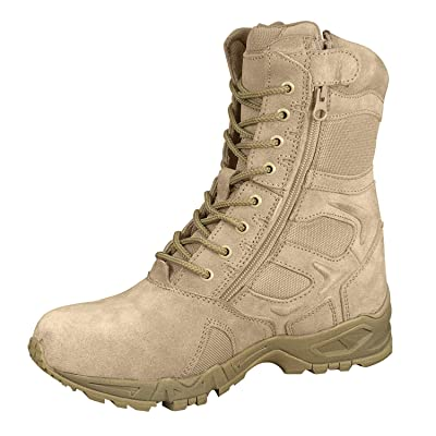 """Rothco Forced Entry 8"""" Deployment Boots with Side Zipper: Sports & Outdoors"""