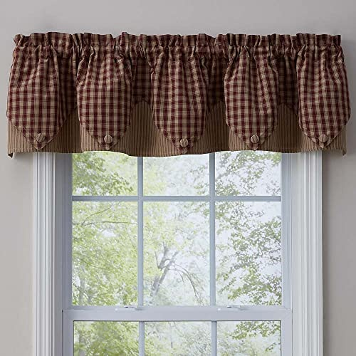 Park Designs Town and Country Wine Point Valance