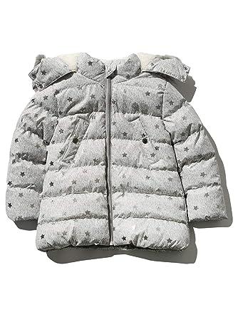 101cde341 M Co Girls Hooded Faux Fur Trim   Lining Long Sleeve Foil Star Print ...
