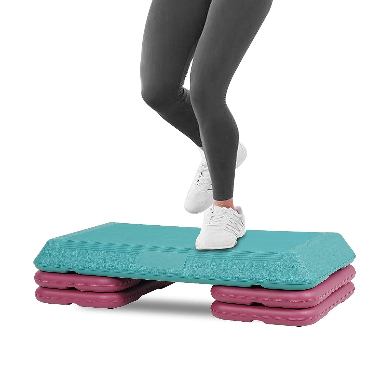 HomGarden Adjustable Aerobic Stepper Workout Step w// 4 Risers Fitness /& Exercise Platform Trainer Stepper