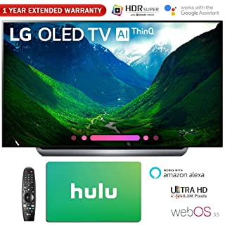 "LG Electronics 4K Ultra HD Smart OLED TV 4K HDR AI Smart TV + Hulu $100 Gift Card (77"" OLED77C8)"