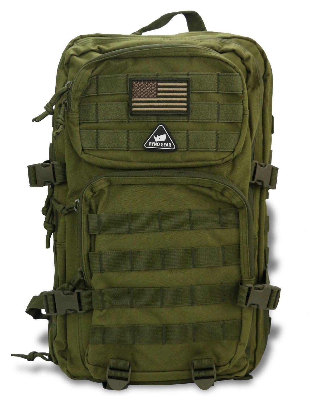 Ryno Gear Bravo Military Tacticalバックパック  グリーン B07CVR2BBW