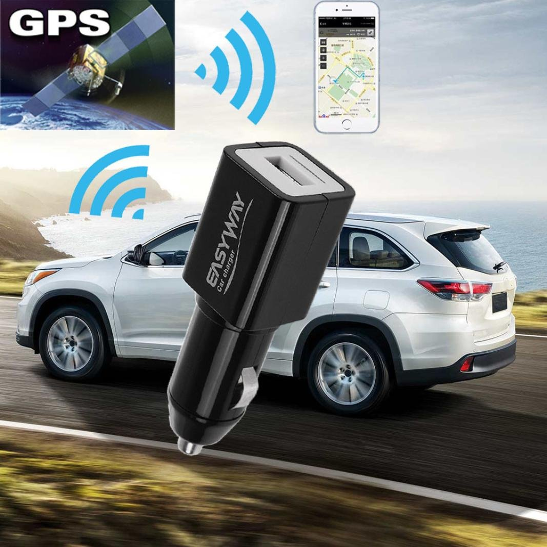 Compia Mini Portable Vehicle Car Charger GPS/GSM/GPRS Locator Real Time Tracking Device for Baby,Child, The Old Howyi