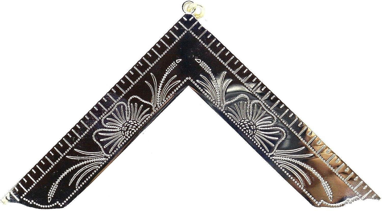 Worshipful Master Masonic Collar Jewel Silver