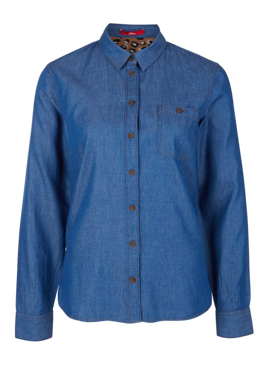 s.Oliver dam blus Blå (Blue Denim Non Stretch 55y6)