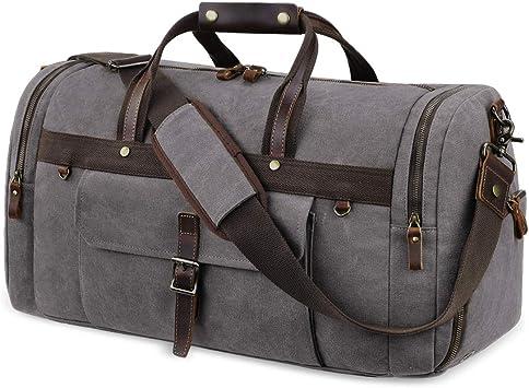 Mens Soft Leather Gym Duffel Shoulder Bag Travel Overnight Luggage Large Handbag