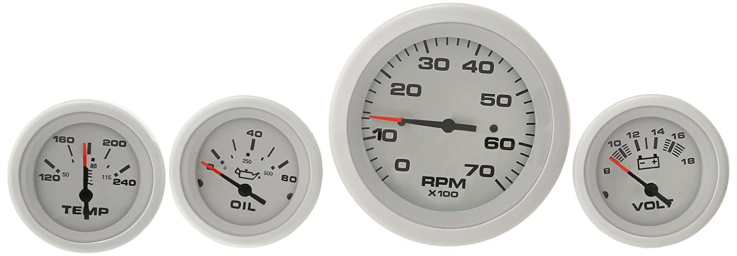 Sierra International 69724P Arctic Twin Engine Add On IB/IO 4 Gauge Set Includes Tach, Oil Press & Water Temp Gauges Teleflex