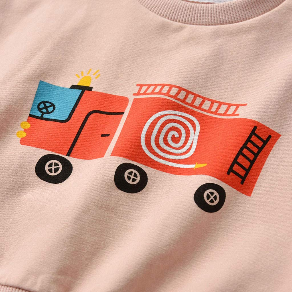 Caerling Boys Sweater Sweatshirt Top Long Sleeve Warm Pullover for Kids Toddler Kids Sweatshirt Pullover Cartoon Print Shirt Tops Tee Clothes
