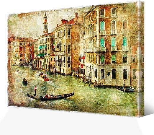Venice City Landscape Poster Architecture Vintage Canvas Art Print Home Decor