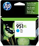 HP 951XL - Cartucho de tinta Original HP 951XL de álta capacidad Cian para HP OfficeJet Pro 251dw, 276dw, 8100, 8600, 8600 Plus, 8610, 8615, 8620