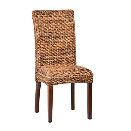 Excellent Amazon Com Woven Banana Leaf Dining Chair Home Kitchen Machost Co Dining Chair Design Ideas Machostcouk