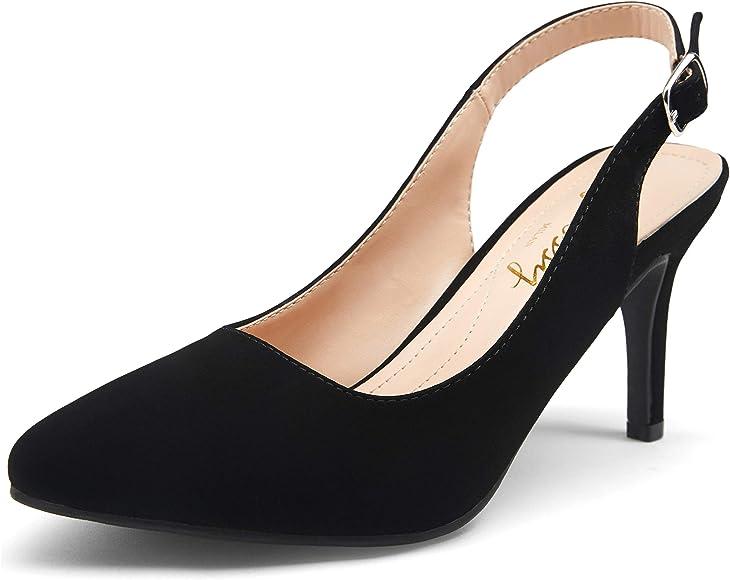 VEPOSE Women's Slingback Pumps Low Heel