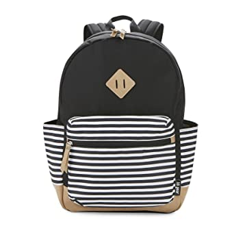 af35f96fbae9f BB Gear Diaper Bag Backpack - Lightweight, Roomy, and Stylish Bookbag -  Simple Black and White...