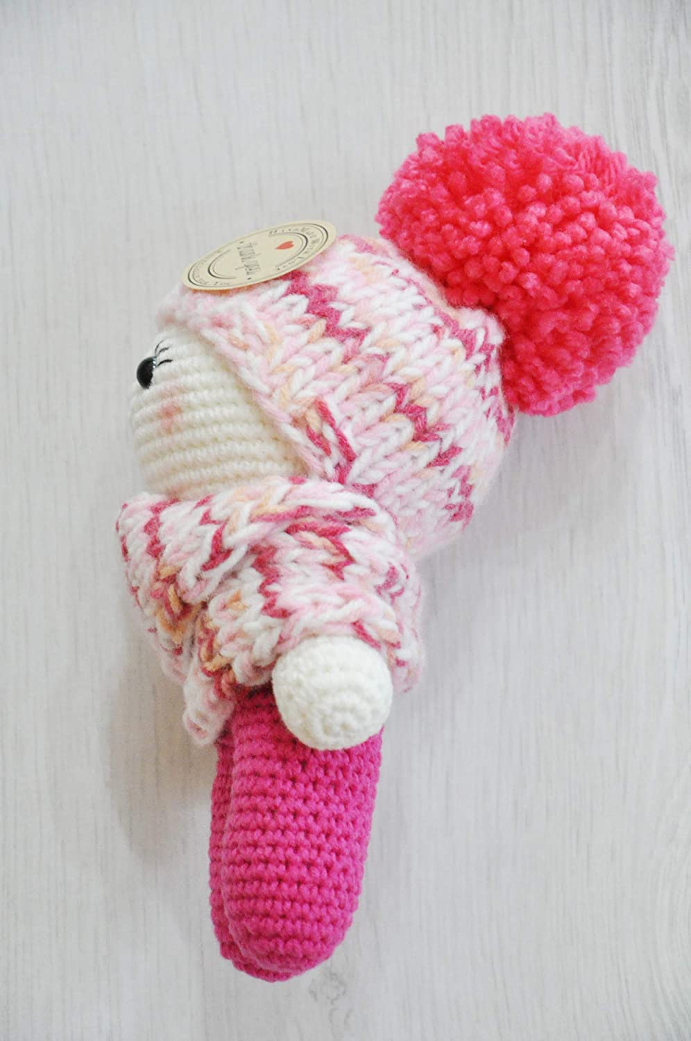 This doll are MADE and ready to SHIP. Knitted doll Yo-Yo Amigurumi toy