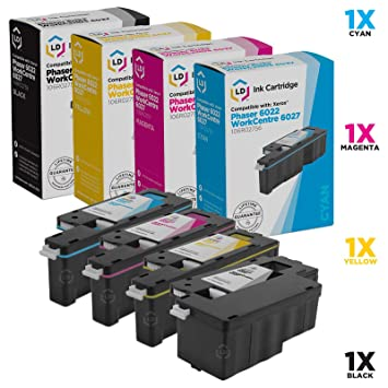 Amazon.com: LD© Xerox 6022 & 6027 – Juego de 4 cartuchos de ...