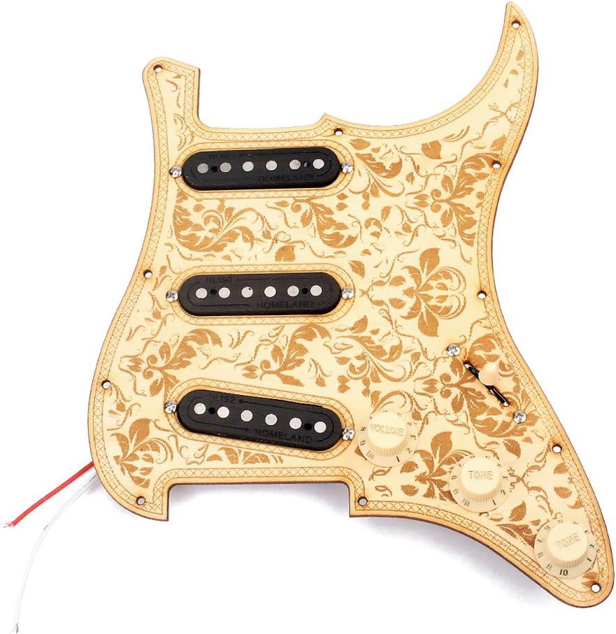 H HILABEE La Mejor Guitarra Eléctrica De Madera De Arce Con Cable ...