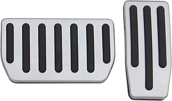 BSFlash car Non-Slip Performance Foot Pedal Pads,Auto Aluminum Pedal Covers for Tesla Model S Model X