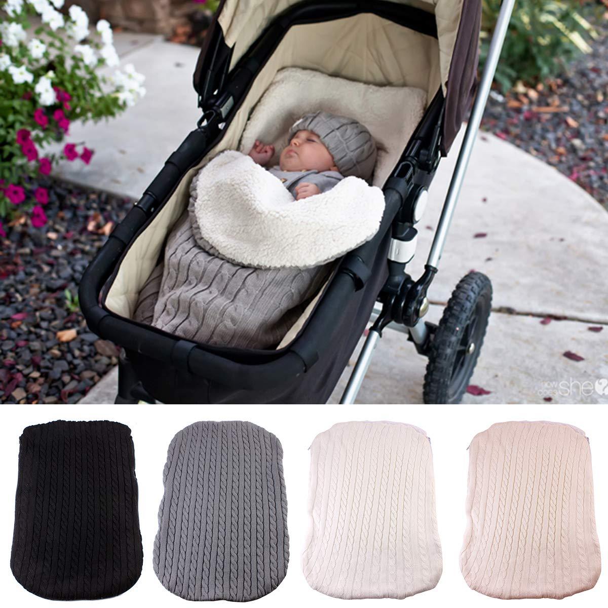 Baby coperta per passeggino Wrap coperta in pile a pelo pi/ù velluto.