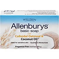 Allenburys Gentle Oatmeal & Coconut Oil Bar Soap | Ideal for Sensitive Skin | 1 Bar