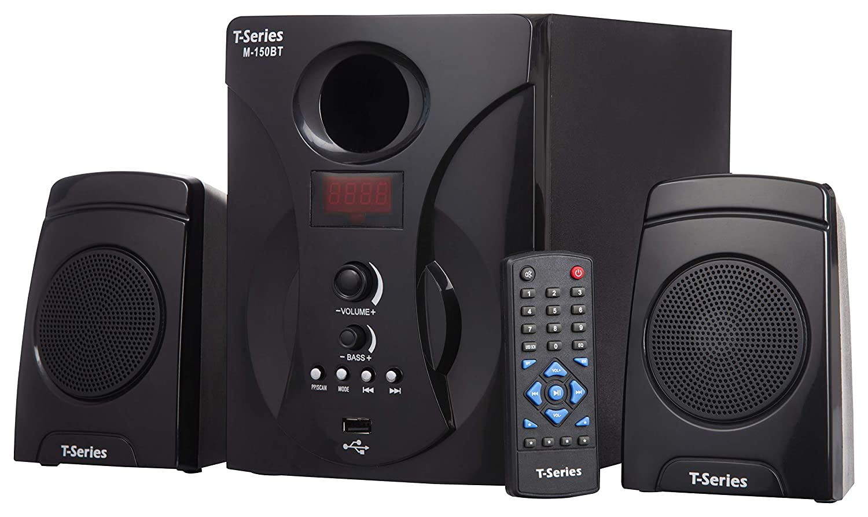 T-Series M-150BT 2.1 Bluetooth Multimedia Speaker System Black