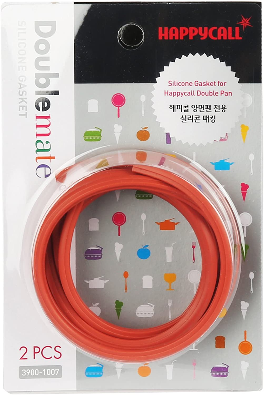 Happycall Double Pan Silicone Gasket Standard Red