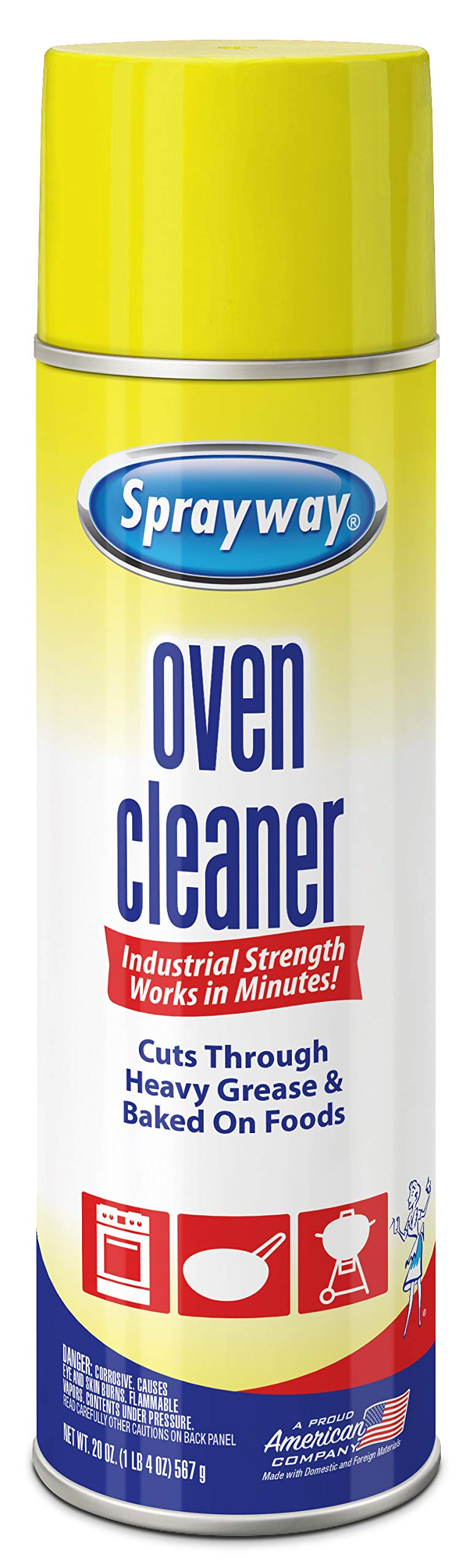 Sprayway Heavy-Duty Oven & Grill Cleaner, Removes Oil & Grease, 20 Oz, 20 Ounce by Sprayway