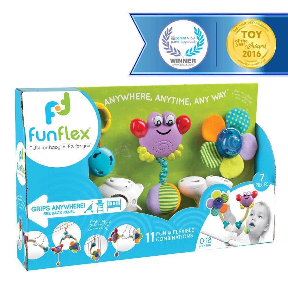Fun Flex Award Winning Interchangeable Infant Baby Activity Set - 11 Fun and Flexible Combinations