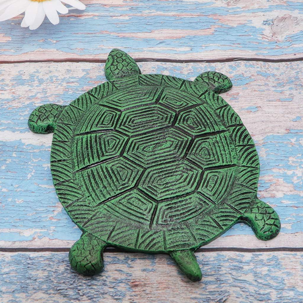 "MDLUU Tortoise Stepping Stone, Cast Iron Flagstone, Decorative Turtle Stepping Stone for Lawn, Yard, Garden Walk Way, 13.3""×10.2"""