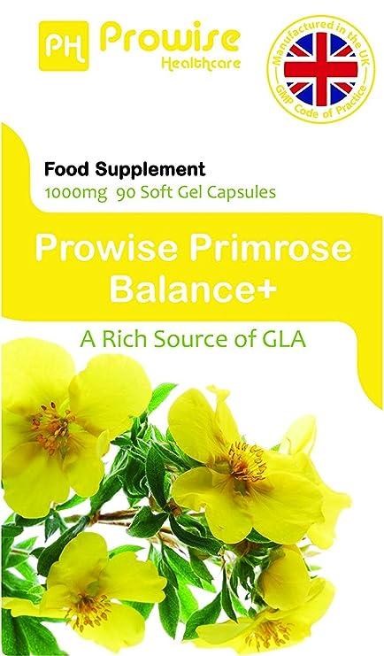 Aceite de onagra 1000mg 90 cápsulas - Apoya niveles equilibrados ...