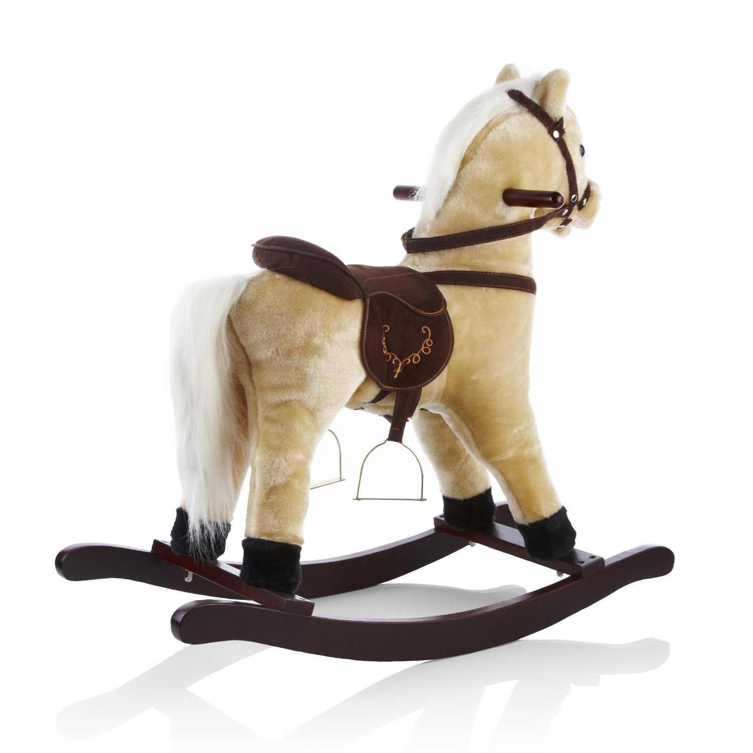 heritage deluxe 68cm rocking horse with sounds u0026 moving mouth