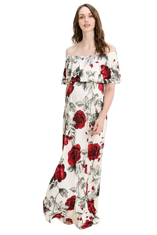 Hello MIZ DRESS レディース B07G3K656S X-Large|Ivory/Red Rose Ivory/Red Rose X-Large