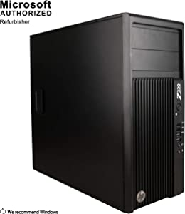 2018 HP Z230 Business Workstation Tower Desktop Computer, Intel Quad-Core i7-4770 up to 3.9GHz, 8GB DDR3 RAM, 256GB SSD, DVDRW, Windows 10 Pro (Renewed)