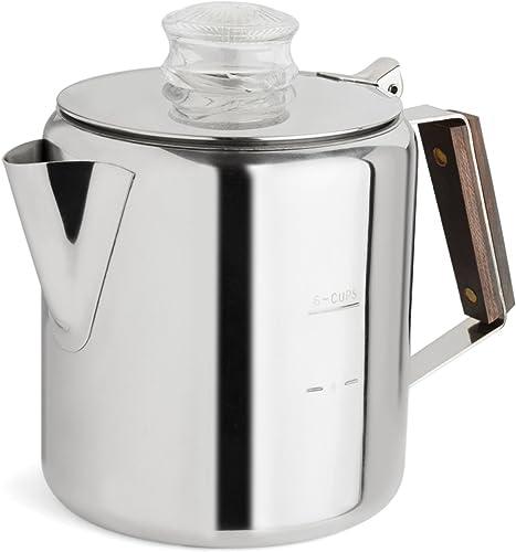 Tops 55703 Rapid Brew Stovetop Coffee Percolator