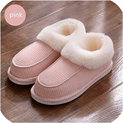 Womens New Winter Warm at Home Women Slippers Cotton Shoes Plush Female Floor Shoes Bow-Knot Fleece Indoor Shoes Woman Home Slippe