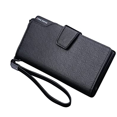 7b71d47819c64 Image Unavailable. Image not available for. Color  Mens Wallet Men Purses  Business Leather ...