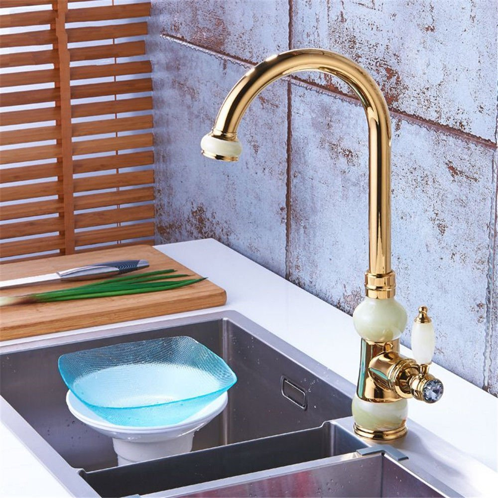 Bathroom Sink Faucet LYTOR Tall Body Hot and Cold Water Kitchen Sink Basin Mixer Tap Single Mixer Taps Solid Brass Sink Faucet Tradition