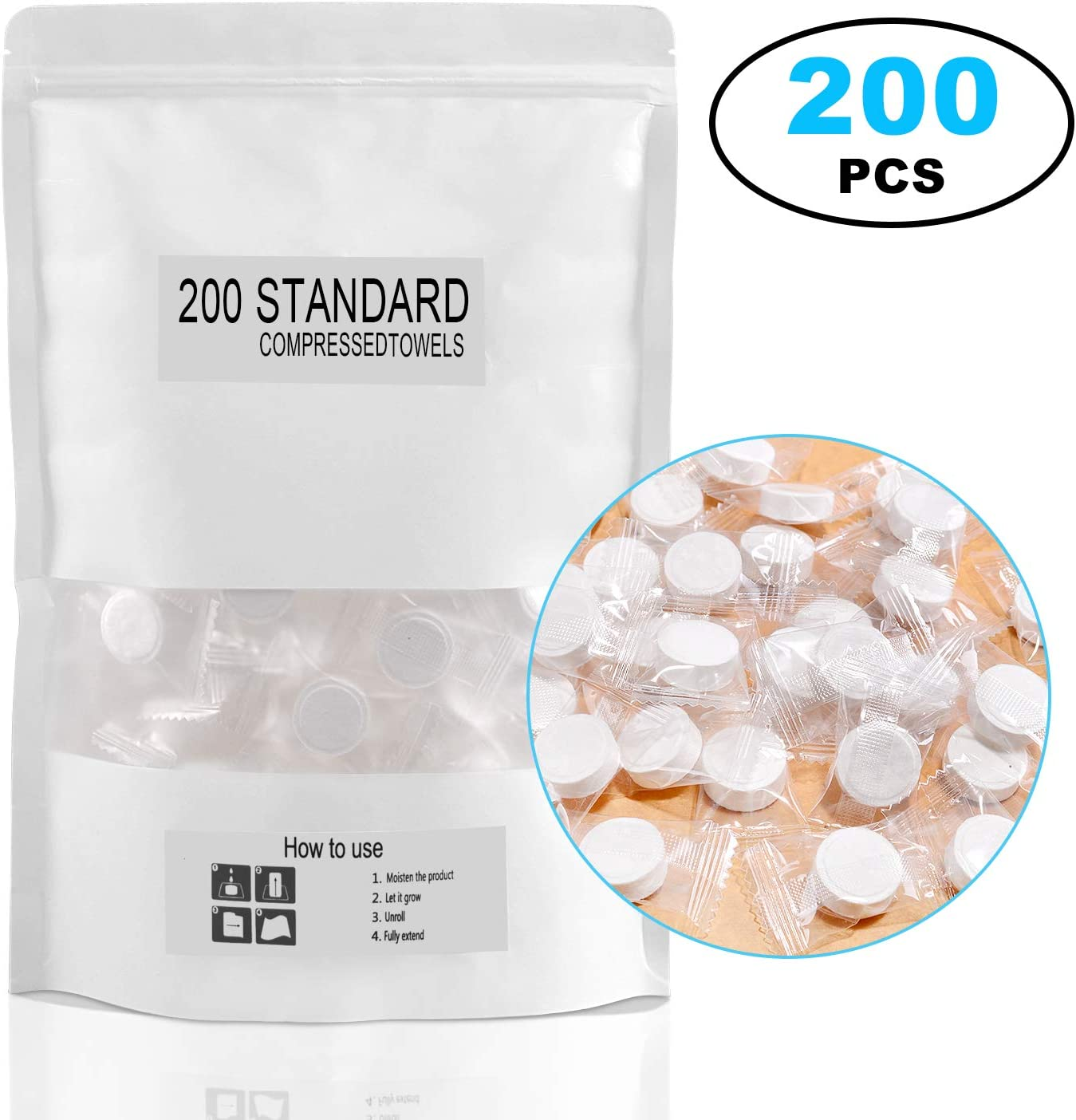 200pcs Mini Compressed Towel Portable Compressed Coin Tissue for Travel//Home//Outdoor Activities Magic Disposable Face Compressed Towels Soft Compressed Hand Wipe