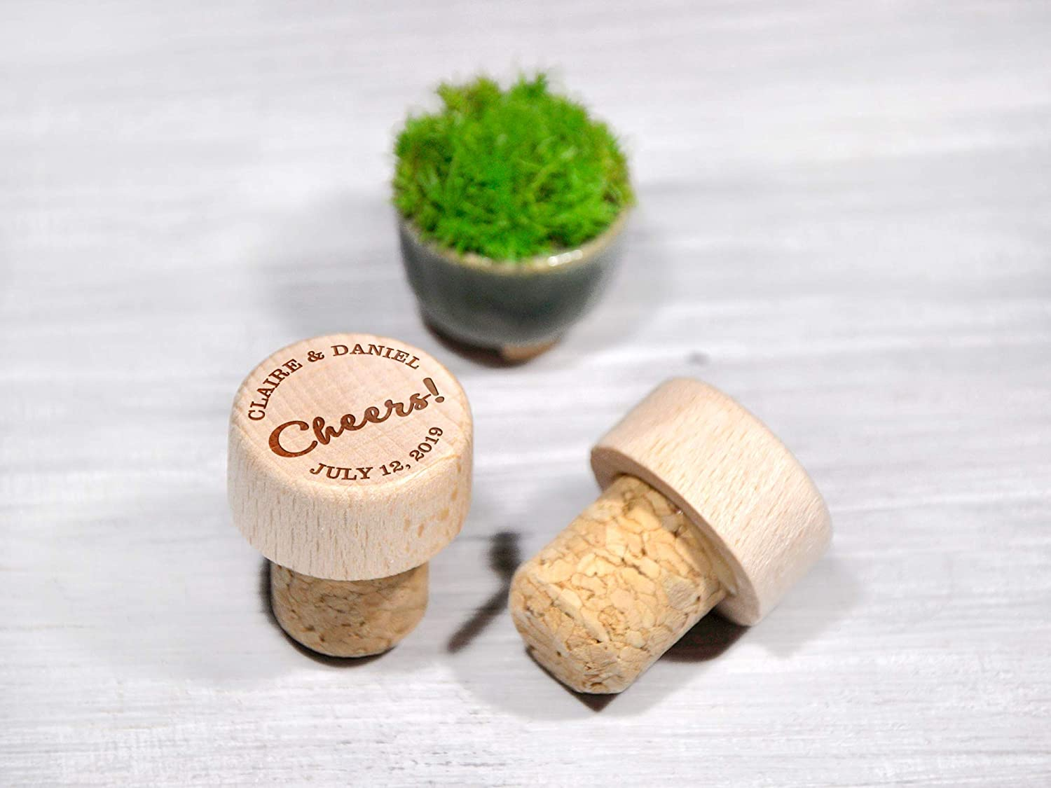 Made in USA Top Quality Stainless Wood. Sip Happens Bottle Stopper Laser Engraved Wood Bottle Stopper Wine Bottle Stopper Gift for Wife