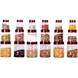 Cello Checkers Air Tight Pet Canister Set, 18-Pieces, Red