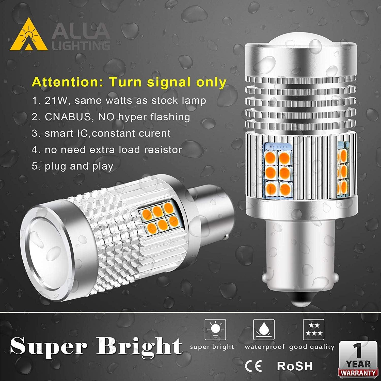 Turn Signal Bulbs Alla Lighting Brightest CANBUS BAU15S 7507 LED ...
