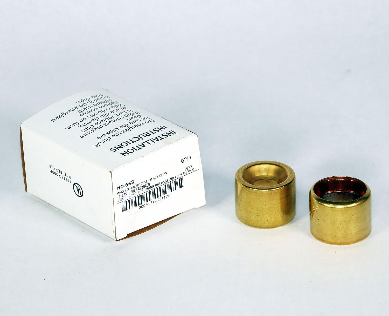 Details about  /BUSSMAN BUSS 663-R FUSE REDUCER Makes 30A//600V Fuse Fit 60A Clip