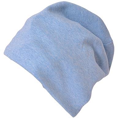 4837477a2bd CHARM Organic Beanie Boys Cap - Slouchy Cotton Kids Warm Knit Hat Young  Girls Light Blue